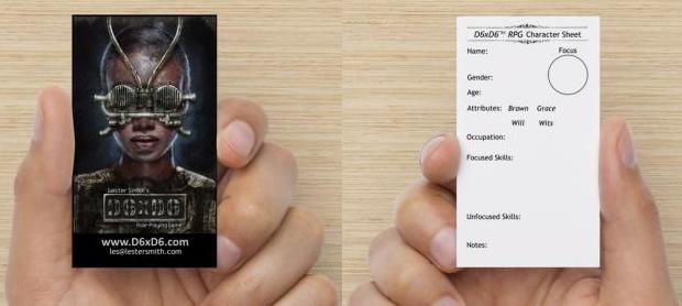 "D6xD6 RPG ""Character Sheet"""